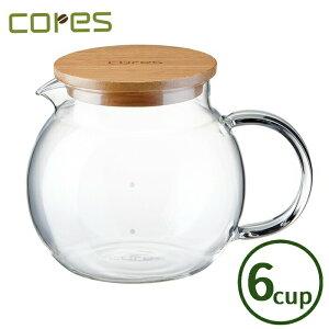 Cores コレス ハンドメイドガラスサーバー6カップ C506【コーヒー/紅茶/サーバー/ガラス/天然木/送料無料】