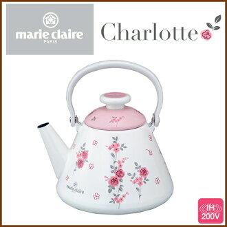 Enamel Kettle 2. 5 L ◆ IH support / kitchen / kitchen appliances / kettles ホーローケトル / porcelain enamel Kettle / pink rose pattern / floral / fashion / 5P13oct13_b