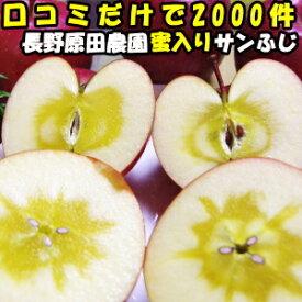りんご 蜜入り サンふじ 口コミ2000件 噂の 蜜入りりんご サンフジ 長野 信州 原田農園 3kg 6〜12玉 訳あり 家庭用 送料無料