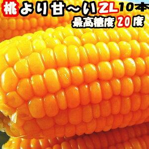 とうもろこし 生 県外不出 桃より甘い 生で食べれるとうもろこし めぐみ 長野産 2Lサイズ 10本 3.5〜4.5kg