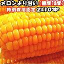 とうもろこし 北海道 甘い メロンより甘い 安心の特別栽培認定 生で食べれるとうもろこし 平均糖度18度 夢のコーン 2L…