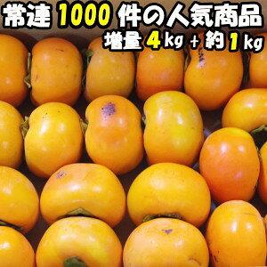 柿 訳あり 送料無料 富有柿 柿の王様 奈良 西吉野 柳澤果樹園 富有柿 4kg+増量約1kg 計5kg 約13〜23玉 家庭用