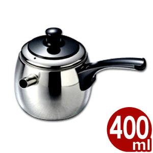 急須一番 花健美(丸型) 400cc ステンレスきゅうす/お茶 日本茶 緑茶 割れない 大容量 丈夫 ステンレス 金属製急須 007602002