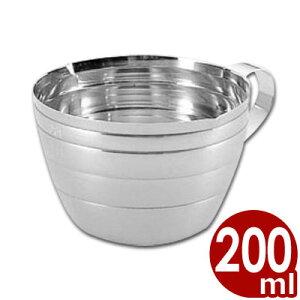 S印 ステンレス計量カップ 200cc No.171/料理 お菓子 水 粉 液体 計測 はかり シンプル 定番 009004001