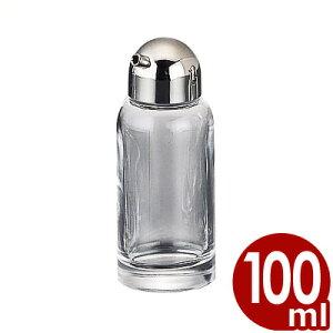 ガラス製ウスターソース入れ 100cc 木目抗菌キャップ No.365/調味料入れ 入れ物 容器 卓上 透明 クリア 清潔 衛生 015160001
