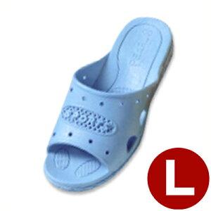 303 ジュニアフィッティングサンダル ブルー L 23.5cm/子ども キッズ スリッパ トイレ 水場 041205004