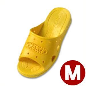 303 ジュニアフィッティングサンダル イエロー M 22.5cm/子ども キッズ スリッパ トイレ 水場 041205005