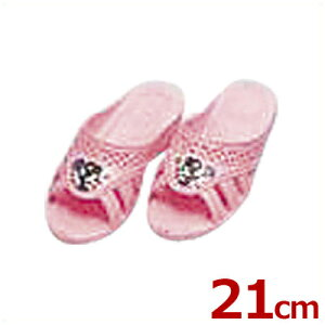 こども靴 子供用フィッティング漫画付サンダル ピンク 21cm 6号/キッズ スリッパ トイレ 水場 041211006
