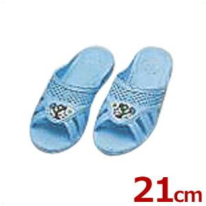 こども靴 子供用フィッティング漫画付サンダル ブルー 21cm 6号/キッズ スリッパ トイレ 水場 041211012