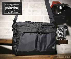【選べるノベルティ付】 ポーター フォース 横型ショルダーバッグ 855-07415 ブラック 吉田カバン PORTER
