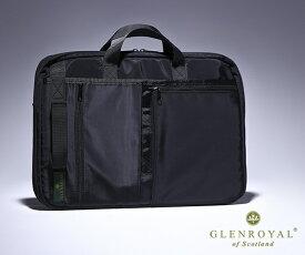 【選べるノベルティ付】グレンロイヤル GLENROYAL アシストPCバッグ(カラー:ブラック) | バッグ メンズビジネスバッグ おしゃれ ブランド ビジネスバッグ メンズバック メンズ ビジネスバック バック 誕生日プレゼント カバン 男性 ビジネス