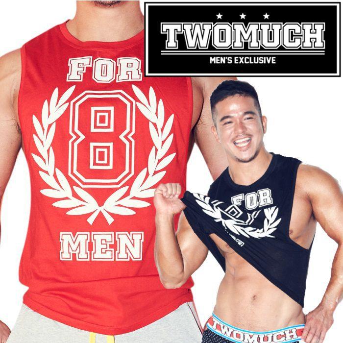 TWOMUCH トゥーマッチ ツーマッチ メンズファッション アメカジ タンクトップ メンズ スポーツ ジムウェア トレーニングウェア トップス 4MEN TOP(tw-top006)