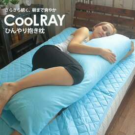 ひんやり抱き枕 COOLRAY クールレイ 接触冷感 冷感 涼感 さらさら 吸汗 吸熱 冷却 夏 カバー付き いびき 腰痛 反り腰 横向き寝 妊婦 ハグピロー 抱きまくら 大きい キシリトール 送料無料