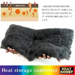 人体から出る赤外線を熱に変え蓄熱する新素材のハニカムキルト構造掛け布団ヒートブースト