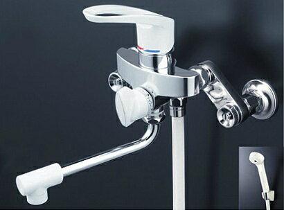 【最安値挑戦中!最大34倍】シャワー水栓 KVK KF5000HA シングルレバー式シャワー 楽締め水栓