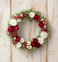 草原で見つけた妖精の花冠♪Coquelicot Rouge☆オトナかわいい赤と白のナチュラルリース。ナチュラルなグリーンと赤のドライフラワーリース、大人カワイイ、シンプルリース。妖精の花冠みたいな可愛