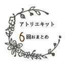 手作りキット 毎月変わるアトリエ★キット☆6回分おまとめ ドライフラワー プリザーブドフラワー リース