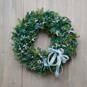 クリスマスリース リース クリスマス 玄関 プリザーブド クリスマスリース プリザーブドクリスマス Meteore de Noe シンプルでスタンダードな大人のクリスマスリース