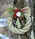 しめ飾り しめ縄 お正月飾り お正月リース 注連 しめ飾り 白い花のお正月飾り しめ縄リース 人気のしめ飾り