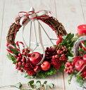 手作りキット 赤いリンゴのクリスマスリースキット クリスマスキット 手作りのクリスマス 自分で作るクリスマス飾り …