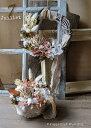 リース 手作りキット 玄関 クリスマス お正月 花材 材料 マニュアル 毎月変わるアトリエ キットお試し ドライフラワー…