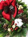 モミのクリスマスリース Sサイズ 直径25cm リボンが選べる