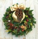 モミのクリスマスリース Lサイズ 直径35cm リボンが選べる