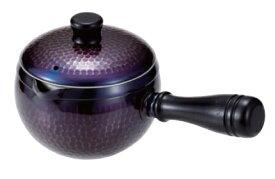 急須(横手)銅 紫被仕上げ (ストレーナー付)送料無料 COPPER100 新光金属 新光堂