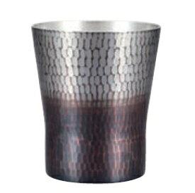 手打ち焼酎カップ(小) 銅 錫/黒被仕上げ 純銅鎚目焼酎カップ 新光堂 COPPER100 新光金属