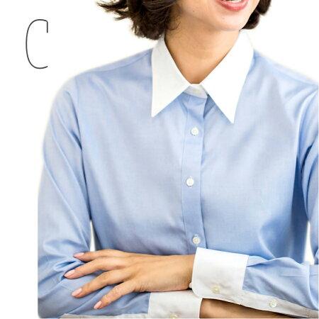 【コルレオニス】クレリックシャツ長袖(形態安定加工)