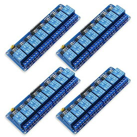 HAMILO リレーモジュール Arduino用 8チャンネル 5V 電気スイッチ AVR ARM (4個セット)