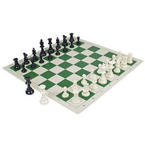 【送料無料】フェリモア チェスセット チェス駒 チェス盤 チェスマット 国際公式サイズ スタントンスタイル 競技 (ホワイト×グリーン)