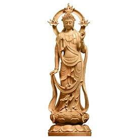 【送料無料】Felimoa 勢至菩薩 木彫り仏像 本尊 木製置物 厄除け お守り 仏像