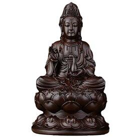 【送料無料】Felimoa 木彫り観音菩薩 仏像 お守り 観音 木彫り置物 彫刻 木製 本尊 風水