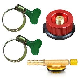 フェリモア カセットガス 変換アダプター レギュレータ CB缶 OD缶対応 ホースバンド ガス器具用 (セット)
