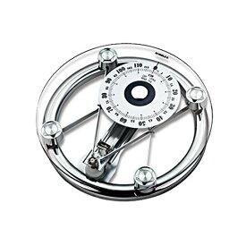 フェリモア アナログ体重計 円型 ガラス製 アナログ表示 体重測定 ヘルスメーター 体重が見やすい