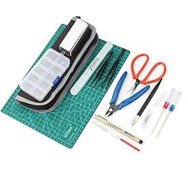 フェリモア プラモデル ツールキット プラモ初心者 工具セット 切断 組み立て バリ取り シール貼り (15点セット)