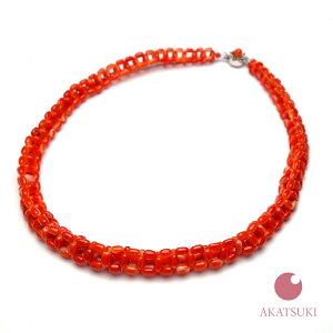 日本産赤珊瑚 ネックレス46cm プレゼント 還暦祝 ジュエリー アクセサリービーズ編み 3月誕生石 サンゴ 敬老の日 贈り物 結婚35周年 出産祝い 珊瑚婚 お守り 女性用 レディース