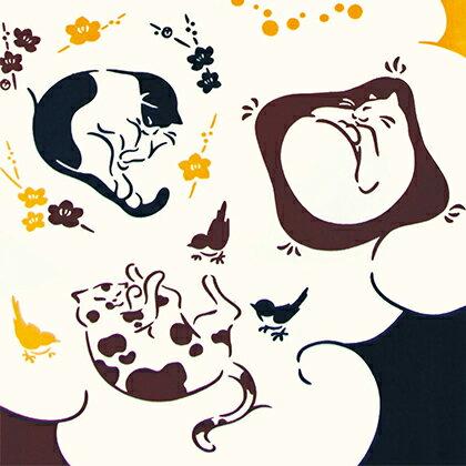 気音間 注染手ぬぐい 昼寝子【メール便可】/手ぬぐい/てぬぐい/手拭い/猫/ねこ/ネコ/動物/和柄/猫柄/猫グッズ/【正月】