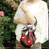 蒸包袱皮手提包的美草莓手提包(环附)摩登少女岛岛多(70cm)/包袱皮/背/トートバッグ/草莓手提包/草莓手提包/和睦杂货/和睦/和睦柄/