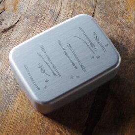 アルミ弁当箱 土筆(つくし)シルバー450ml 保温庫対応 おしゃれ/デザイン/かわいい/こども/silver/銀/保温/アルミ製/スリム/小判型/北欧/栗原はるみ/大人/レトロ/ランチグッズ