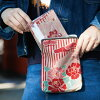 The / fashion / Mother's Day when there is レ A6 size gusset with thing running out of sealed letter issued by a shogun book case two size nostalgic flower size, and thin pouch multi-case / sealed letter issued by a shogun book bag /2 冊可能 / pouch bag / se