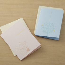 ROKKAKU お祝いカードセット メッセージ ギフト プレゼント おしゃれ かわいい インテリア シンプル ミニ 箔押し 金
