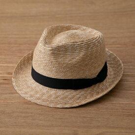 田中帽子 細麦中折れハット(59cm)    麦わら帽子 メンズ レディース ストローハット 帽子 中折れハット UV 夏 おしゃれ 大人 シンプル 工芸 伝統工芸 細麦 シンプル