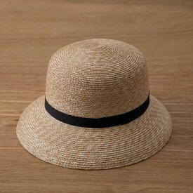 【2021年分在庫限り】田中帽子 カサブランカ ナチュラル 麦わら帽子 レディース ストローハット 帽子 UV UVカット UVハット 夏 おしゃれ 大人 シンプル 工芸 伝統工芸 細麦 シンプル つば広 敬老の日