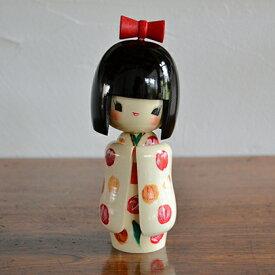 卯三郎こけし 乙女袖 白 創作こけし KOKESHI/Japanese/Doll/Traditionl/こけし/コケシ/日本/人形/伝統/和/和雑貨