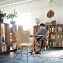 ★送料無料 ラタン【ヴィヴィ】チェア アジアン家具ダイニングチェア チェア 椅子 イス 肘付き 木製 完成品 北欧 モダン レトロ おしゃ…