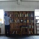 ★送料無料 オールドチーク・ブックケースキャビネット シェルフ 本棚 棚 アジアン モダン ラック ブックラック リビングボード ブラウ…