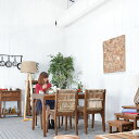 ※受注生産(ご注文後 約4ヶ月でお届け)★送料無料 【ドミニク】ダイニングチェア アジアン 椅子 家具 アンティーク イス ダイニング 木…