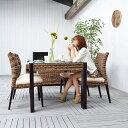 ★送料無料 ジュート【モンタナ】ダイニングチェア アジアン 椅子 家具 ダイニングチェア イス ダイニング 木製 食卓 いす おしゃれ ア…